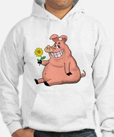 Pig With a Daisy Hoodie
