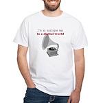 I'm an analogue White T-Shirt