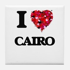 I love Cairo Egypt Tile Coaster