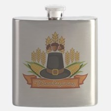 Funny American pie Flask
