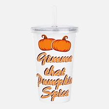 Pumpkin Spice Acrylic Double-wall Tumbler