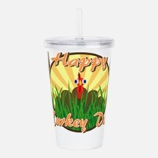 Happy Turkey Day Acrylic Double-wall Tumbler