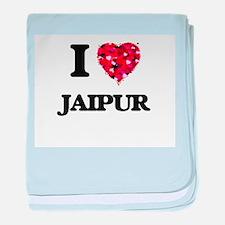 I love Jaipur India baby blanket