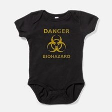 Distressed Biohazard Warning Baby Bodysuit