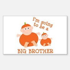 little pumpkin big brother Rectangle Decal