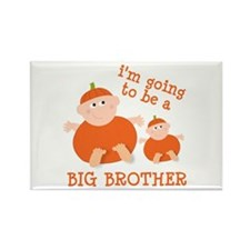 little pumpkin big brother Rectangle Magnet