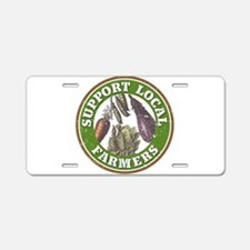 Support Local Farmers Aluminum License Plate