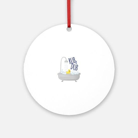 Rub A Dub Round Ornament
