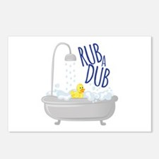 Rub A Dub Postcards (Package of 8)