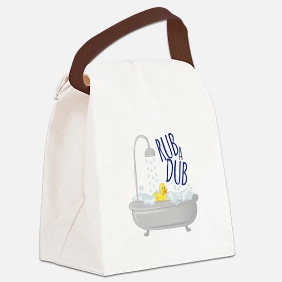 Rub A Dub Canvas Lunch Bag