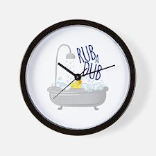 Rub A Dub Wall Clock