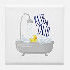 Rub A Dub Tile Coaster