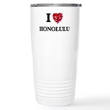 I love Honolulu Hawaii Travel Mug