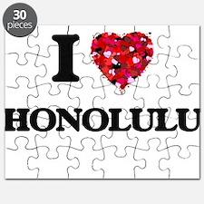 I love Honolulu Hawaii Puzzle