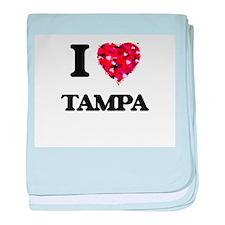 I love Tampa Florida baby blanket