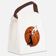 Slam Dunk Basketball Player w/Hoo Canvas Lunch Bag