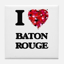 I love Baton Rouge Louisiana Tile Coaster