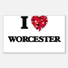 I love Worcester Massachusetts Decal