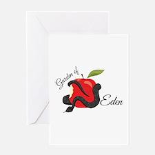 Garden Of Eden Greeting Cards