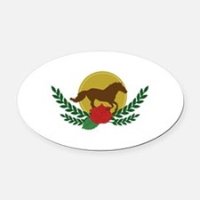 Derby Day Logo Oval Car Magnet