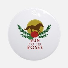 Run For Roses Round Ornament