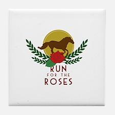 Run For Roses Tile Coaster