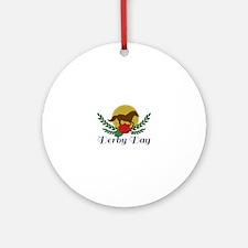 Derby Day Round Ornament