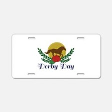 Derby Day Aluminum License Plate