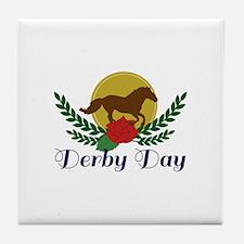 Derby Day Tile Coaster