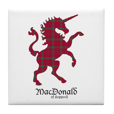 Unicorn-MacDonaldKeppoch Tile Coaster
