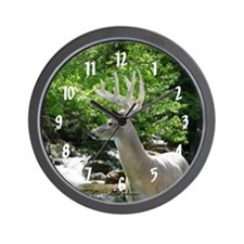Buck by Waterfall Wall Clock