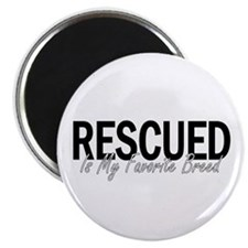 """Rescued is My Favorite Breed 2.25"""" Magnet (10 pack"""