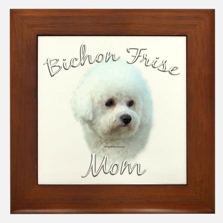 Bichon Mom2 Framed Tile