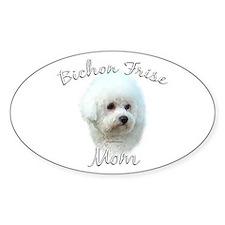 Bichon Mom2 Oval Decal