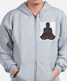 Cute Eastern philosophy Zip Hoodie