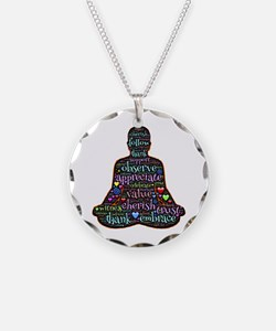 Funny Peace yoga Necklace