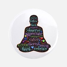 """Cute Eastern philosophy 3.5"""" Button (100 pack)"""