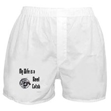 My wife is a reel catch Boxer Shorts