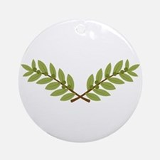 Olive Branches Round Ornament