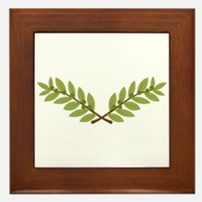 Olive Branches Framed Tile
