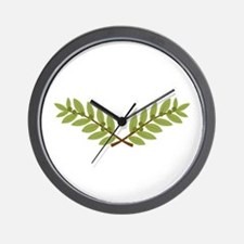 Olive Branches Wall Clock