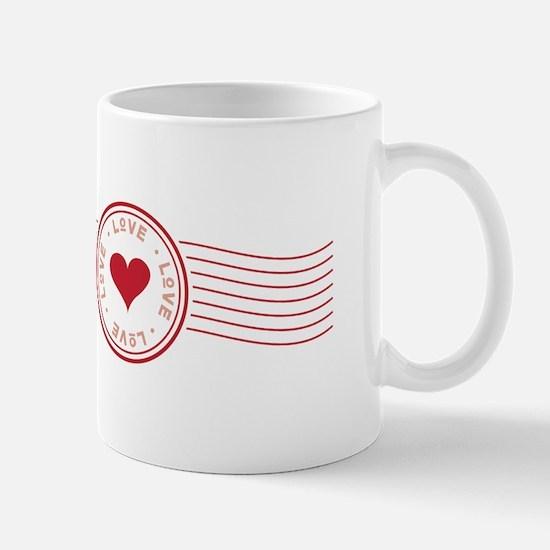 Valentine Postmark Mugs