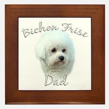 Bichon Dad2 Framed Tile