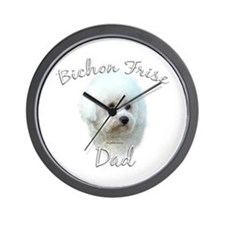 Bichon Dad2 Wall Clock