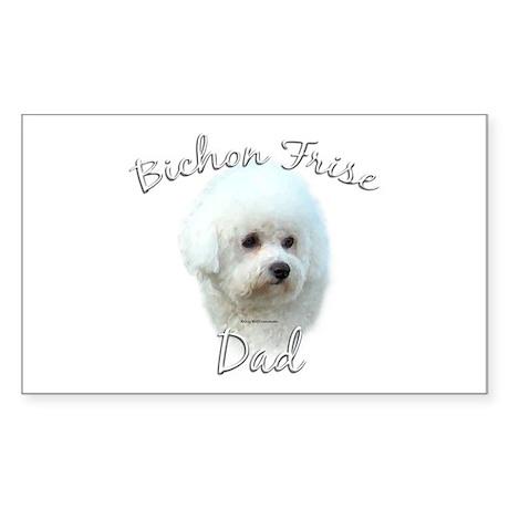 Bichon Dad2 Rectangle Sticker