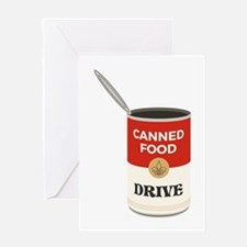 Canned Food Drive Greeting Cards