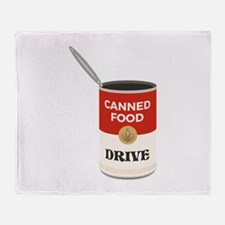 Canned Food Drive Throw Blanket