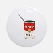Tomato Soup Round Ornament