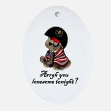 ColBEAR Pirate Oval Ornament