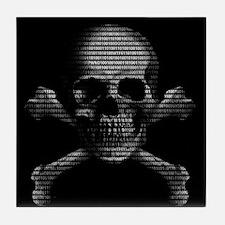 Hacker Skull and Crossbones Tile Coaster